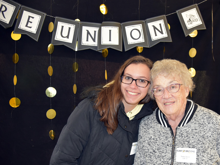 Grandmother and granddaughter alumna at the reunion in 2019