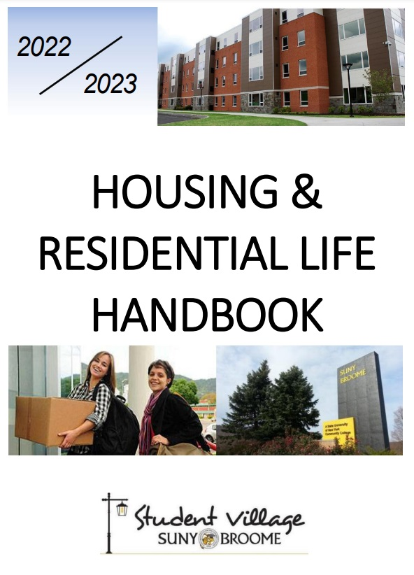 Cover of the Residential life handbook