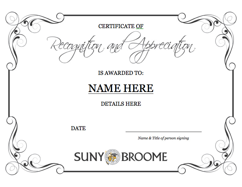Certificate Template Example