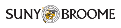 SUNY Broome's primary and more formal-looking logo design